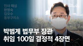 秋도 못한 尹 밀어냈다…박범계 100일, 결정적 4장면[영상]