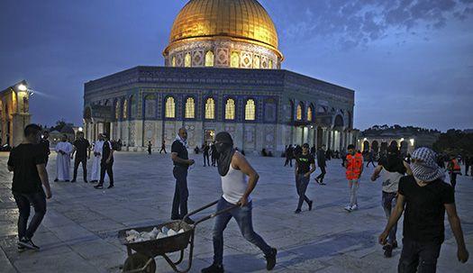 3대 종교 성지 동예루살렘, 이스라엘과 팔레스타인 충돌로 300여명부상