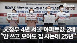 """""""서울 아파트 사려면 4년 전보다 11년 더, 강남은 21년"""""""