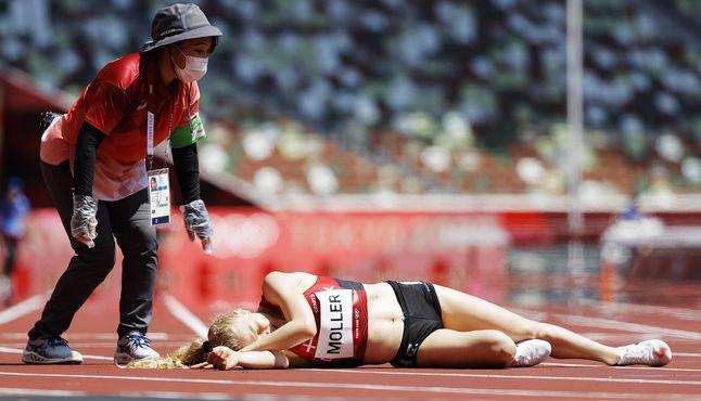 [이 시각] 39도까지 오른 도쿄 올림픽 스타디움, 트랙 위엔 아지랑이 피어올라